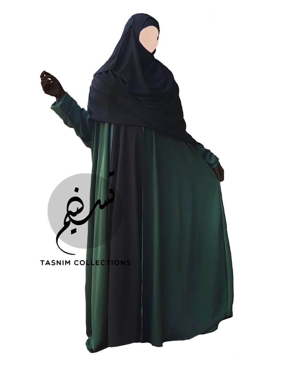"Open Batwing Abaya ""Hawa"" With Elastic Cuff - Tasnim Collections"
