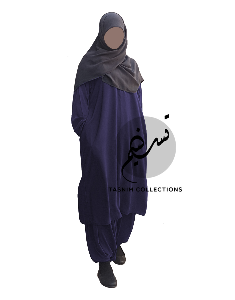 """Two Piece Abaya """"Sarah"""" With Pockets - Tasnim Collections"""