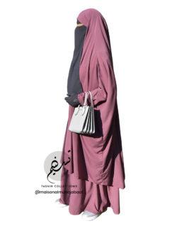 Two Piece Jilbab 'Asiya' Dusky Pink - Tasnim Collections