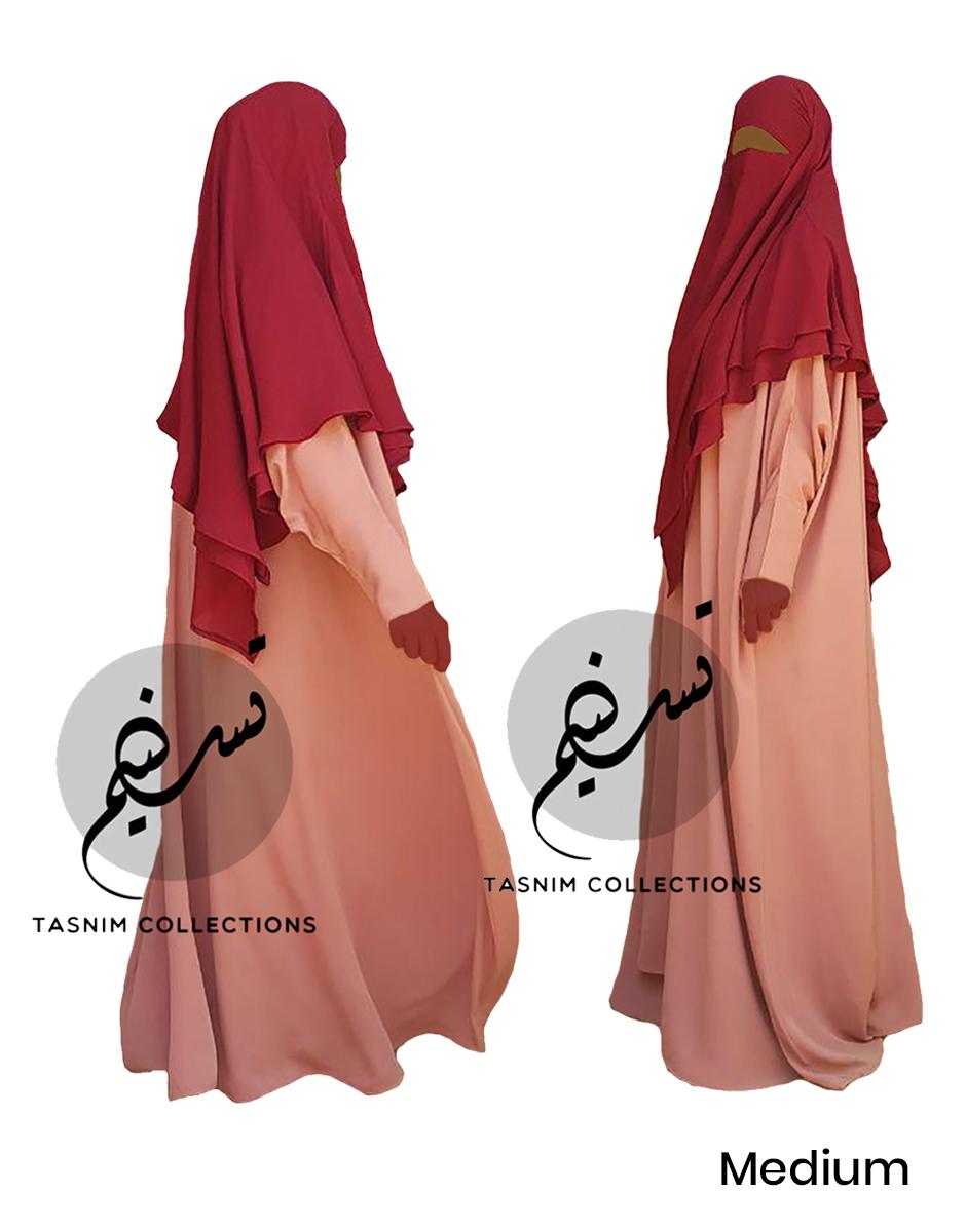 "Two Layer Chiffon Khimar ""Amirah"" Medium – Tasnim Collections"