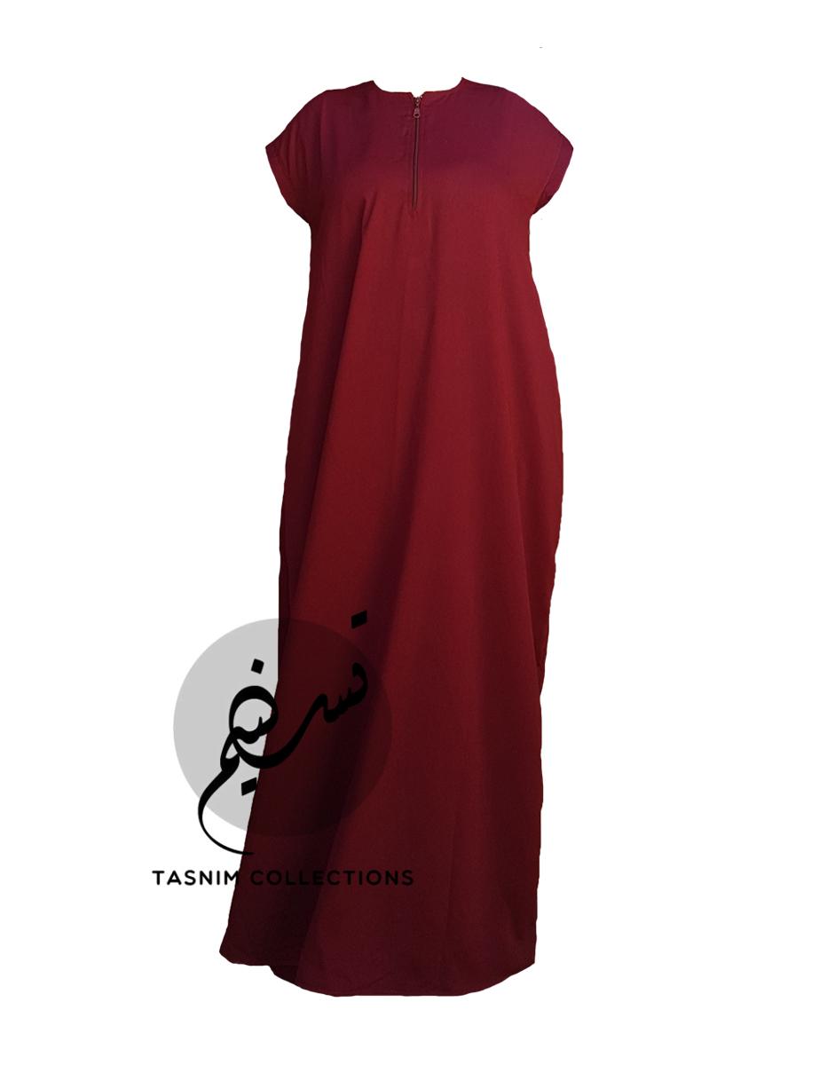 "Sleeveless Abaya ""Anisah"" With Pockets - Tasnim Collections"