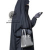 "Two Piece Jilbab ""Asiya"" Blackish Grey - Tasnim Collections"