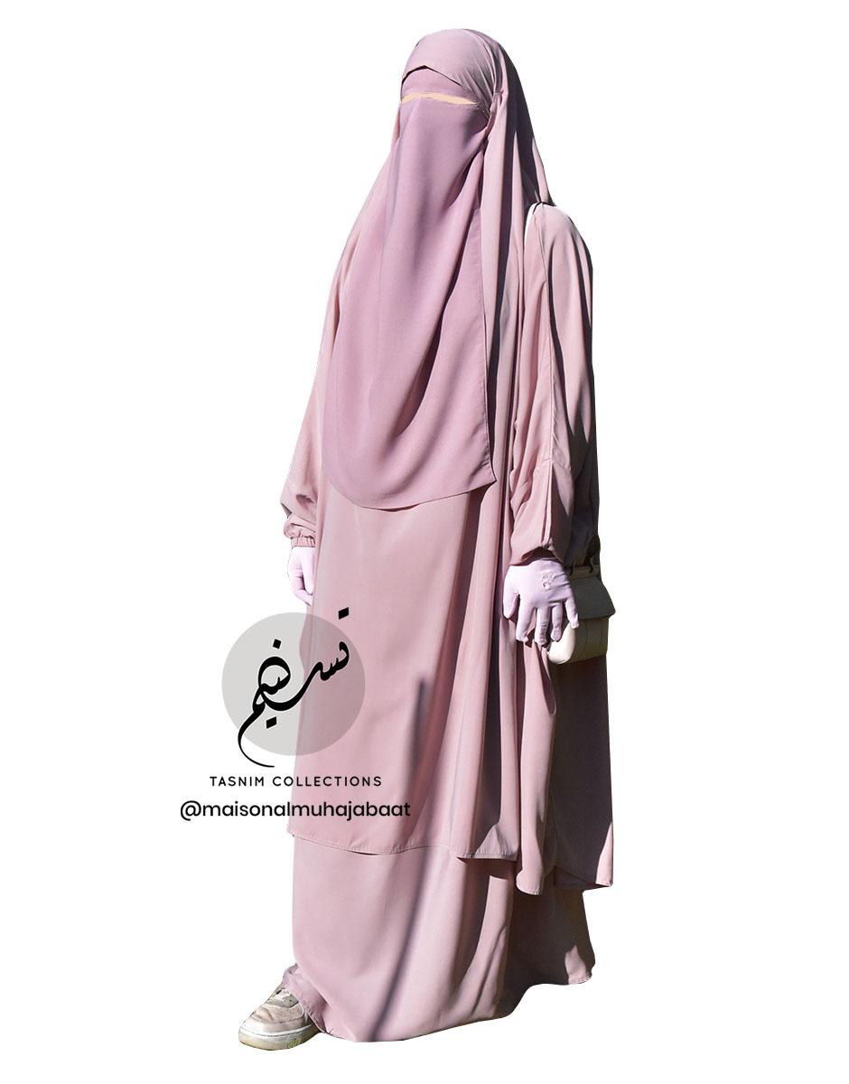 "Two Piece Jilbab ""Asiya"" Blush - Tasnim Collections"