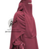 """One Piece Niqab """"Aaliyah"""" Bordeaux - Tasnim Collections"""
