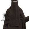 "One Piece Niqab ""Aaliyah"" Dark Brown - Tasnim Collections"