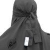 "One Piece Niqab ""Aaliyah"" Dark Grey - Tasnim Collections"