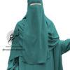"One Piece Niqab ""Aaliyah"" Jade - Tasnim Collections"