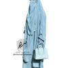 "Two Piece Jilbab ""Asiya"" Light Blue - Tasnim Collections"