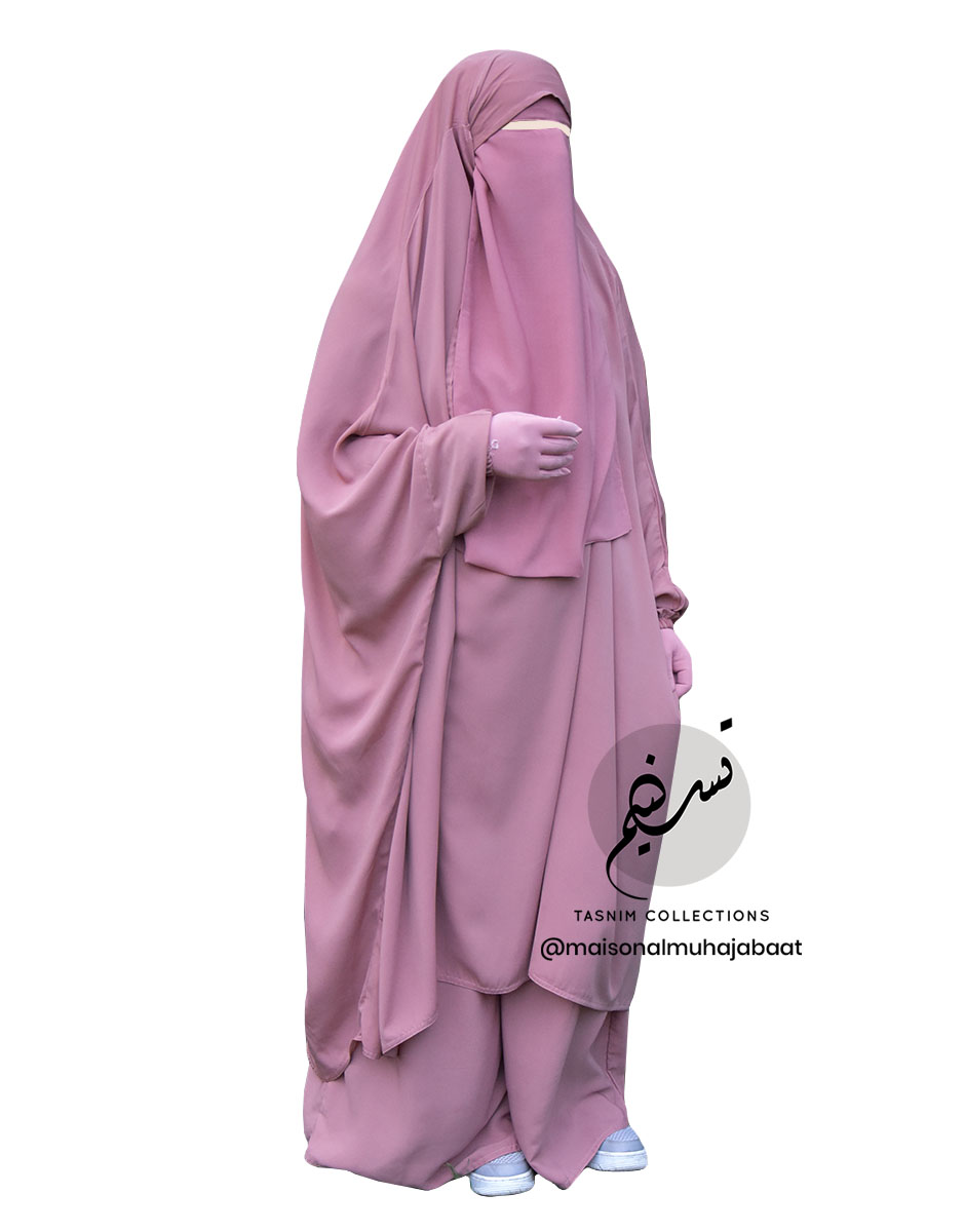 "Two Piece Jilbab ""Asiya"" Apricot - Tasnim Collections"