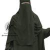 "One Piece Niqab ""Aaliyah"" Pine Green - Tasnim Collections"