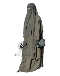 "Two Piece Jilbab ""Asiya"" Pine Green - Tasnim Collections"