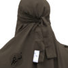 """One Piece Niqab """"Aaliyah"""" Taupe Brown - Tasnim Collections"""