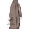 """Two Piece Jilbab """"Asiya"""" Taupe Brown - Tasnim Collections"""
