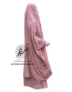 "Two Piece Jilbab ""Asiya"" Peach - Tasnim Collections"