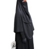 """Elastic Half Niqab """"Aaliyah"""" Blackish Grey – Tasnim Collections"""