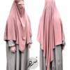 "Diamond Khimar ""Salma"" Apricot - Tasnim Collections"