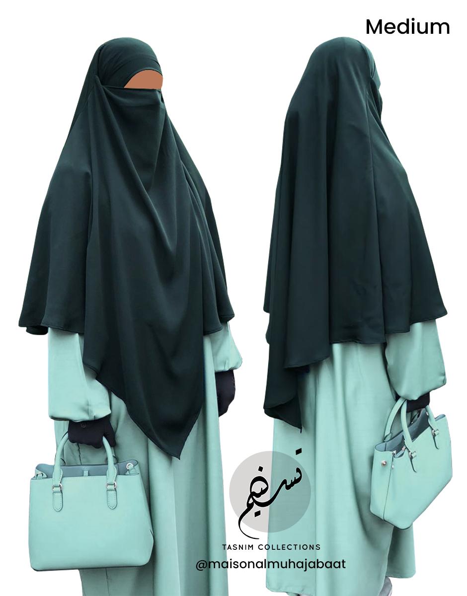 "Diamond Khimar ""Salma"" Blackish Green - Tasnim Collections"