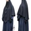 "Diamond Khimar ""Salma"" Blackish Grey - Tasnim Collections M"