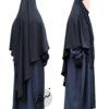 "Diamond Khimar ""Salma"" Blackish Grey - Tasnim Collections XL"