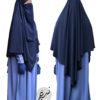 "Diamond Khimar ""Salma"" Dark Blue - Tasnim Collections L"