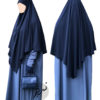 "Diamond Khimar ""Salma"" Dark Blue - Tasnim Collections M"