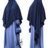 "Diamond Khimar ""Salma"" Dark Blue - Tasnim Collections XL"