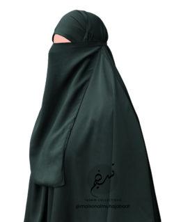 """Elastic Half Niqab """"Aaliyah"""" Blackish Green – Tasnim Collections"""