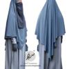 "Diamond Khimar ""Salma"" Blue Grey - Tasnim Collections"