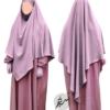 "Diamond Khimar ""Salma"" Blush - Tasnim Collections"