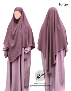 "Diamond Khimar ""Salma"" Dusky Pink - Tasnim Collections"
