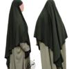 "Diamond Khimar ""Salma"" Pine Green - Tasnim Collections"