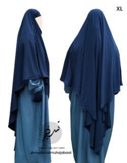 "Diamond Khimar ""Salma"" Prussian Blue - Tasnim Collections"