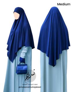 "Diamond Khimar ""Salma"" Royal Blue - Tasnim Collections"