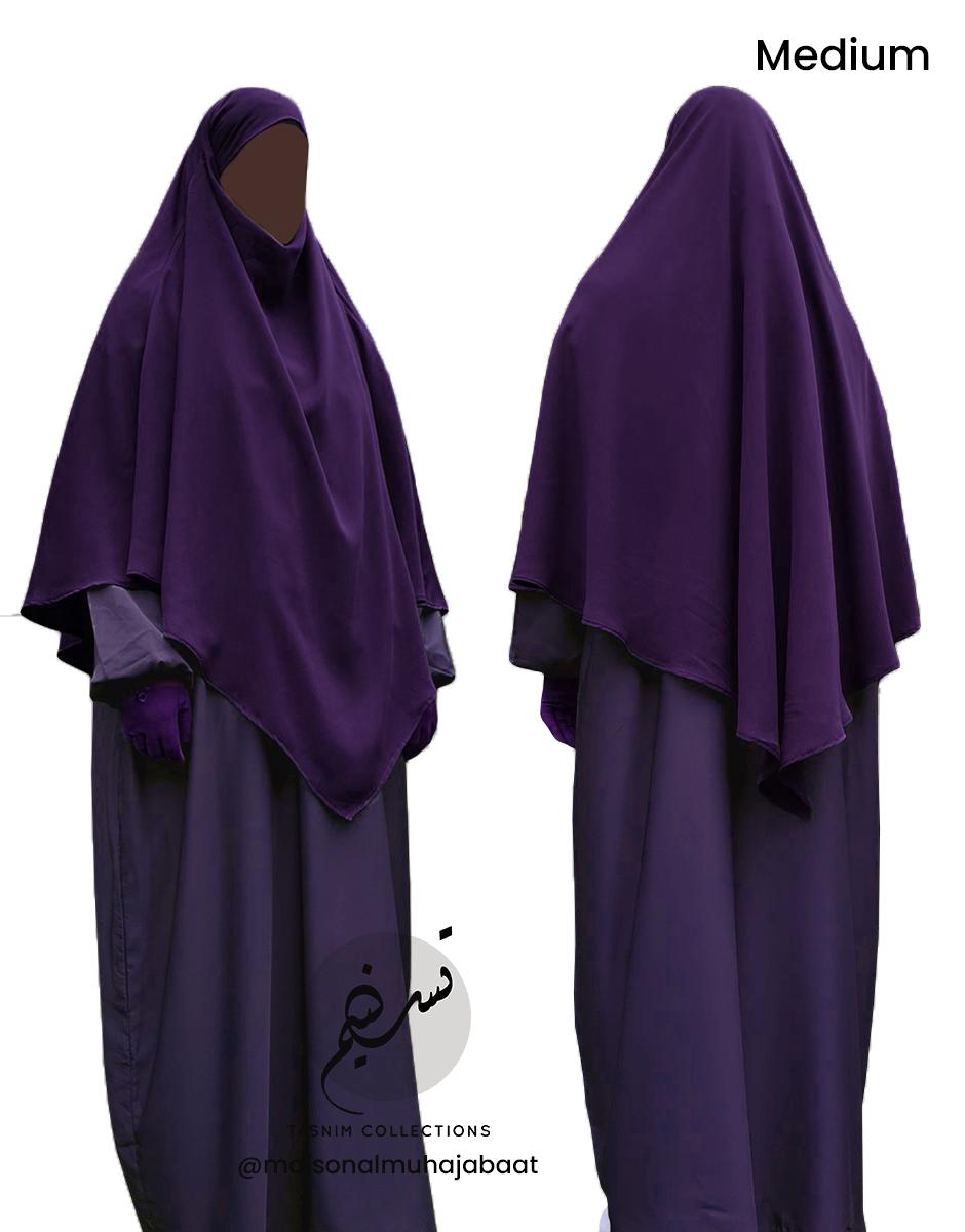 "Diamond Khimar ""Salma"" Royal Purple - Tasnim Collections"