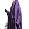 Dark Mauve nidha half niqab 2 Tasnim Collections