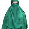 """Elastic Half Niqab """"Aaliyah"""" Emerald – Tasnim Collections"""