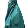 """Elastic Half Niqab """"Aaliyah"""" Jade – Tasnim Collections Lithaam/Half Niqab """"Aaliyah"""" Jade – Tasnim Collections"""