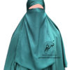 """Elastic Half Niqab """"Aaliyah"""" Jade – Tasnim Collections"""