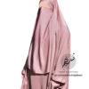Light Apricot nidha half niqab 1 Tasnim Collections