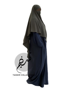 Diamond Khimar 'Muslimah' Dip Back - Tasnim Collections