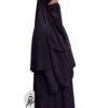 """Elastic Half Niqab """"Aaliyah"""" Plum - Tasnim Collections"""