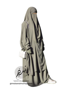 "Two Piece Jilbab ""Asiya"" Olive - Tasnim Collections"