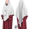 "Diamond Khimar ""Salma"" White - Tasnim Collections L"