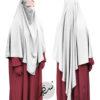 "Diamond Khimar ""Salma"" White - Tasnim Collections XL"