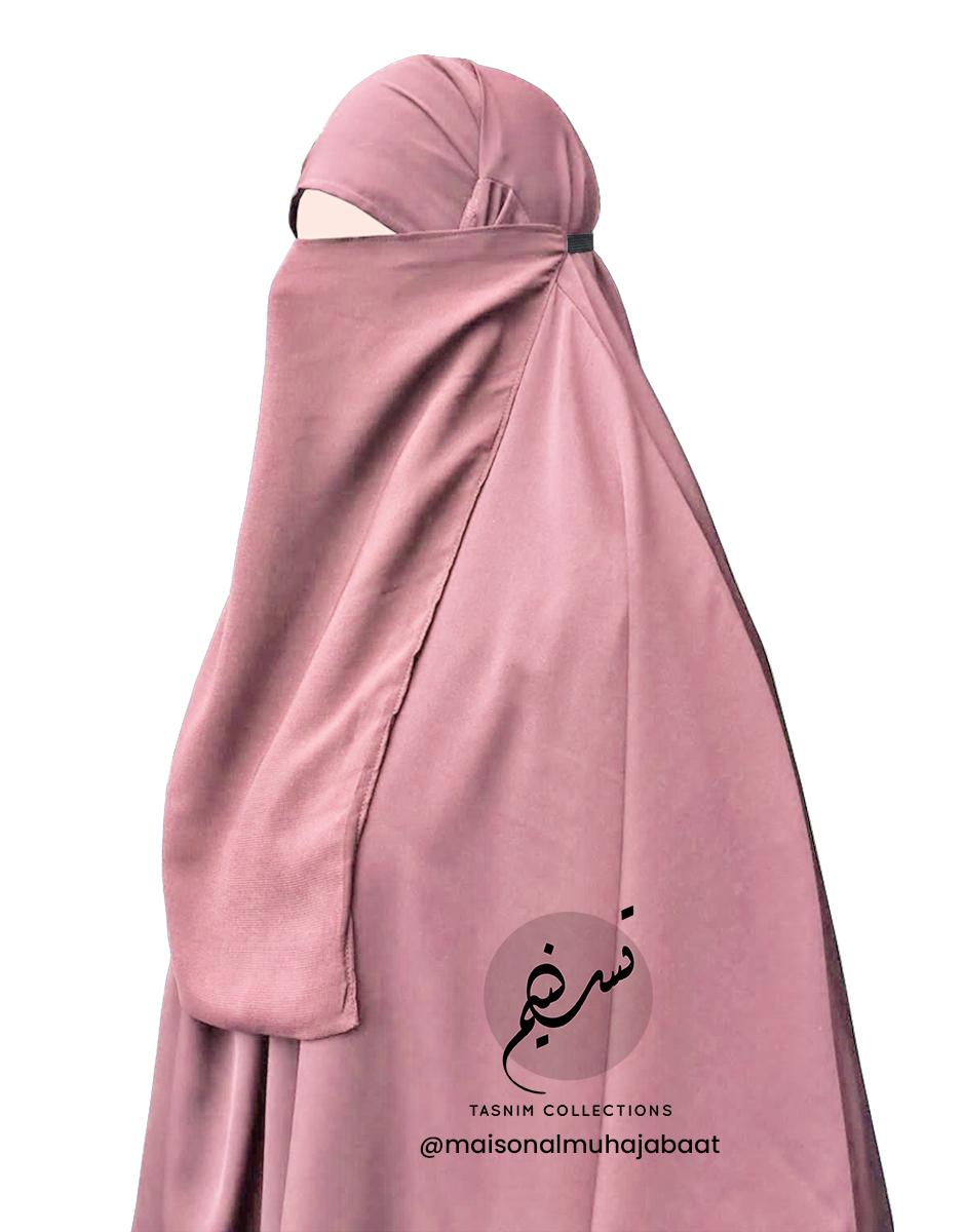"Elastic Half Niqab ""Aaliyah"" Apricot – Tasnim Collections"