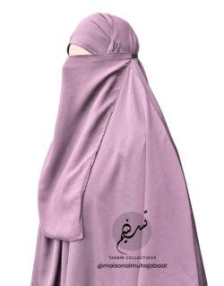"Elastic Half Niqab ""Aaliyah"" Blush - Tasnim Collections"