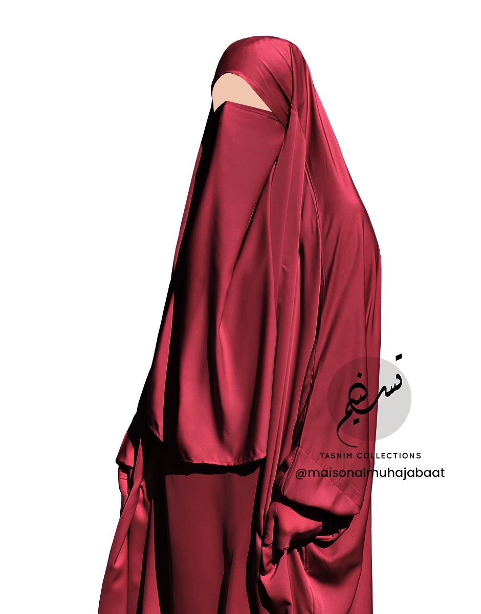 bordeaux nidha half niqab 1 Tasnim Collections