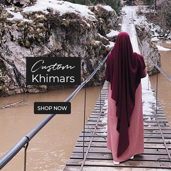 Shop from our wide range of custom made khimars