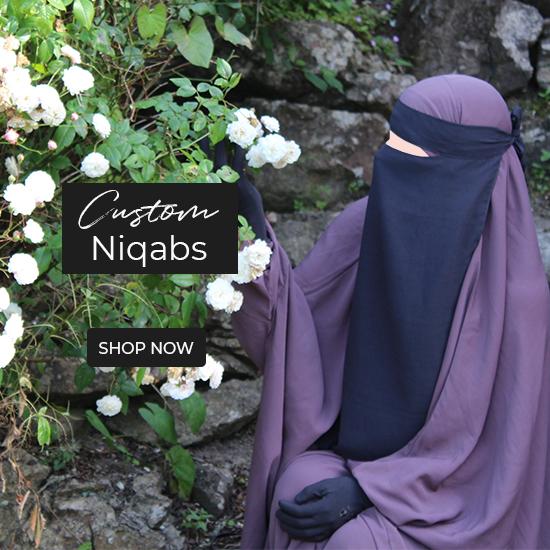 Custom made One piece and Half Niqabs