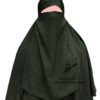"""Elastic Half Niqab """"Aaliyah"""" Dark Teal - Tasnim Collections"""